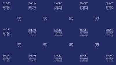 Emory Woodruff health Sciences Center logos repeating pattern