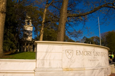 The wall at the Emory gates