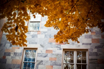 Fall color and marble buildings